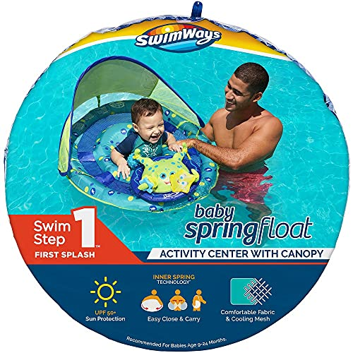 Product Image of the SwimWays Baby Spring Float Activity Center with Adjustable Canopy and UPF Sun...