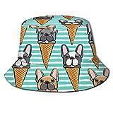 CERYS RILEY Sombrero francés blanco y negro DogBucket al aire libre Camping pesca lluvia Cap