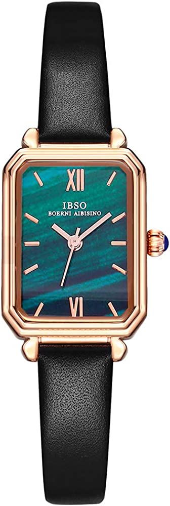 Women Green Retro Square Watch Quartz Stainless Max 70% Year-end gift OFF Steel Mes Analog