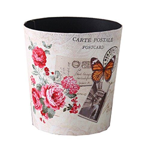 Black Temptation [Fleur] Poubelle Panier à Papier Poubelle Poubelle Poubelle 10,24 * 10,24 * 7,87 Pouces