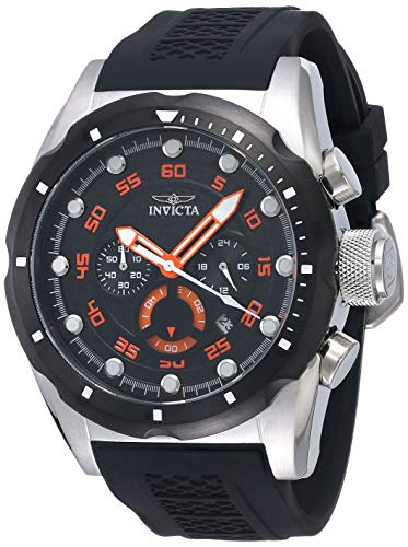 Relógio masculino Invicta Speedway de aço inoxidável, Aço inoxidável