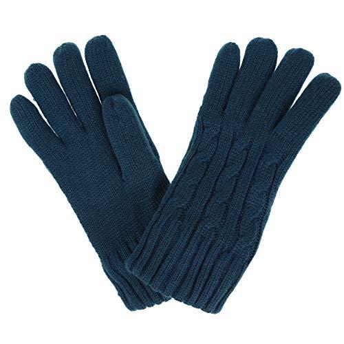 Regatta Multimix II' Cable Knit Gloves Gants Femme, Bleu Sarcelle Profond, L-XL