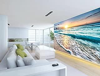 3D Sunrise Sea Beach 072 Wall Paper Wall Print Decal Wall Deco Indoor Wall Murals Removable Wall Mural | Self-Adhesive Large Wallpaper, AJ WALLPAPER Carly (82