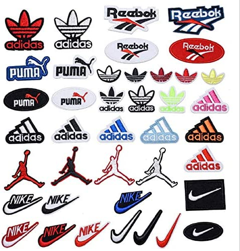 40Pack Brand Logo Patches Iron on Sew on Embroidered Logo Patch Appliques Set for Jackets Hats product image