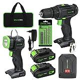 GALAX PRO 20V Kit de Taladro Inalámbrico,Taladro eléctrico inalámbrico con do...