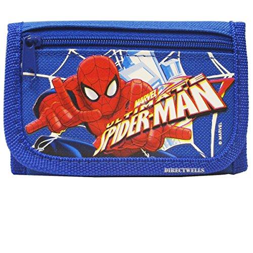 Marvel Spiderman Ultimate Authentic Licensed Trifold Children Wallet (Blue)