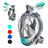 VELLAA Snorkel Mask Full Face for Kids and Adults, Dry Top Set Anti-Fog Anti-Leak 180 Panoramic Large View Free Breath with Detachable...