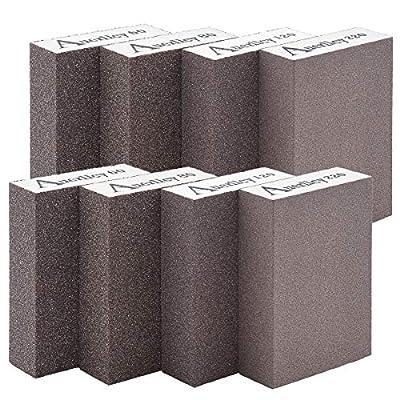 Sanding Sponge,Coarse/Medium/Fine/Superfine 8PCS 4 Different Specifications Sanding Blocks Assortment,Washable and Reusable. (8 PCS)
