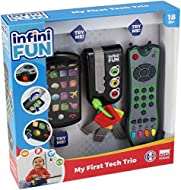 Kurio Toy Set with Mobile Phone, Remote Control and Car Key in Realistic Design with Sounds, Light and Many Other Functions for Playful Diving into Adult World The smartphone has 16 symbols that make fun sounds when touched and light effects. The rem...