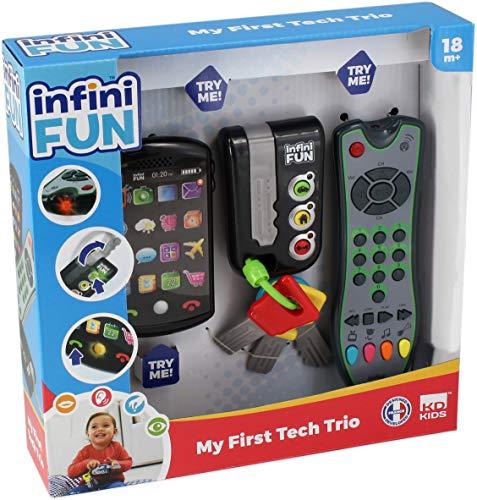 Tech Too DES0889 3er Spiel Set mit authentischer Fernbedienung, Handy und Autoschlüssel, Technikspielset, Trio