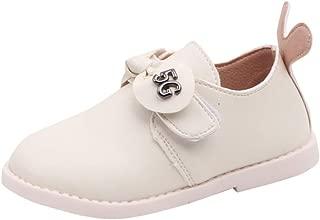 Fancyww Kids Bowknot Girls Dress Shoes Princess Girls Leather Shoes
