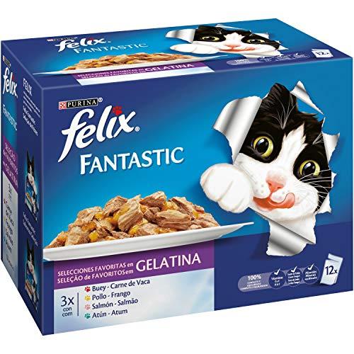Felix - Fantastic Selecciones Favoritas en Gelatina Pack sobres 12 x 100 g - 1200 g 🔥