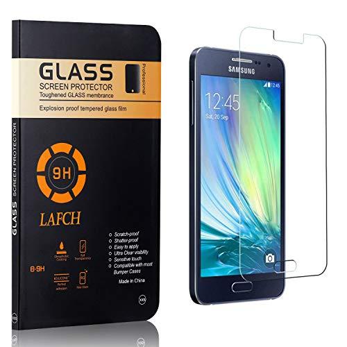Vetro Temperato per Galaxy A3 2015, LAFCH Alta Trasparenza Pellicola Protettiva, Resistente ai Graffi Vetro Temperato per Samsung Galaxy A3 2015, 1 Pezzi