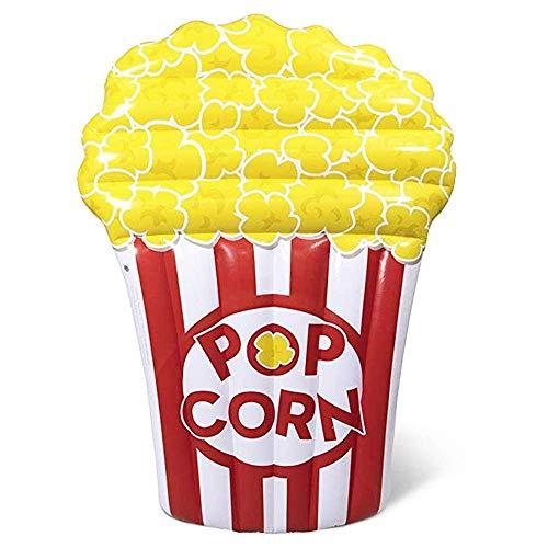 YAMMY 180 * 115 cm Pieghevole Gigante Gonfiabile Popcorn Piscina Galleggiante Nuoto Ride-on Materasso Acqua Letto Galleggiante Spiaggia Vacanze Estive P (Piscina)