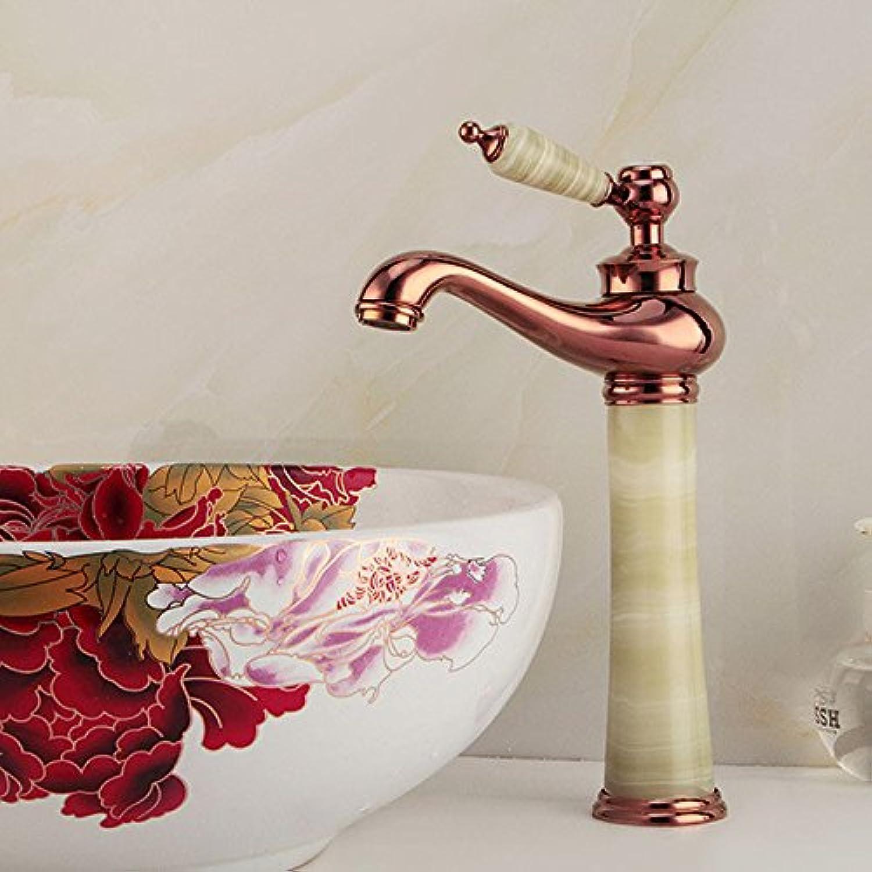 ETERNAL QUALITY Bad Waschbecken Wasserhahn Küche Waschbecken Wasserhahn Retro Kupfer Jade Hei Und Kalt Waschtischmischer BEG1343