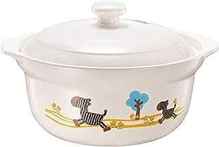 WCY Resistente al Calor cazuela de Sopa de Olla de cerámica 1.5L Cacerola Piedra Pot Esmalte Sopa Blanca pequeña Cebra yqaae