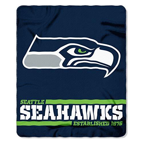 THE NORTHWEST COMPANY Offizielle NFL Seattle Seahawks Decke, Fleecedecke in 127 x 152 cm