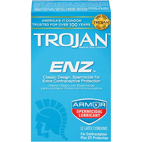 Trojan ENZ Spermicidal Condoms, 12ct