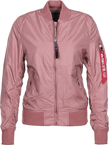 ALPHA INDUSTRIES Damen Ma-1 TT Jacke, Rosa (Dusty Pink 60), Small