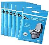 Gwolf Einweg Toilettensitzbezüge, 60 Stück Toilettenauflage Papier, WC Cover Toilettenauflage, Einweg WC Sitzbezug, Anti-Rutsch Einweg Toilettensitzbezug für Kinder, Erwachsener, Einkaufszentren
