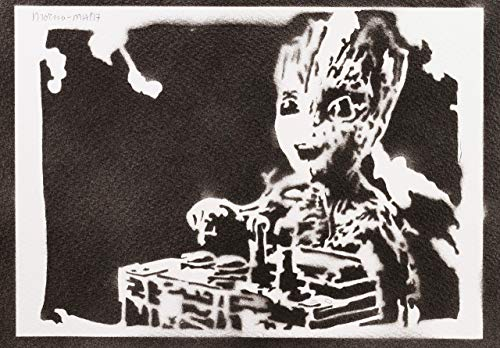 Baby Groot Poster Guardians of the Galaxy Plakat Handmade Graffiti Street Art - Artwork
