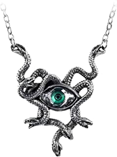 Alchemy of England Gorgons Eye Necklace, Silver