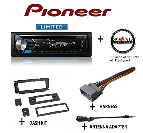 PIONEER DEH-S4010BT CD Receiver + Best Kit BKCDK640 Dash Kit + BHA1818 Harness + BAA20 Antenna Adapter + SOTS Air Freshener
