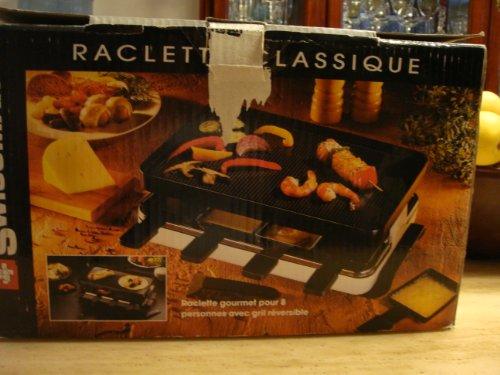 Swissmar KF-77041 Gourmet 8-Person Raclette Grill, Black with Mini Tool Box (fs)