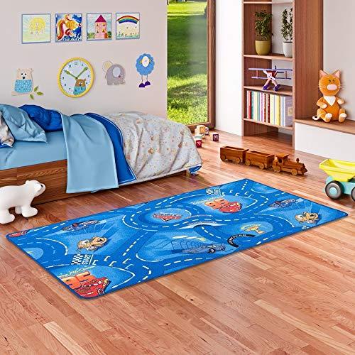 Snapstyle Spiel Kinderteppich Disney Cars Blau in 4 Größen