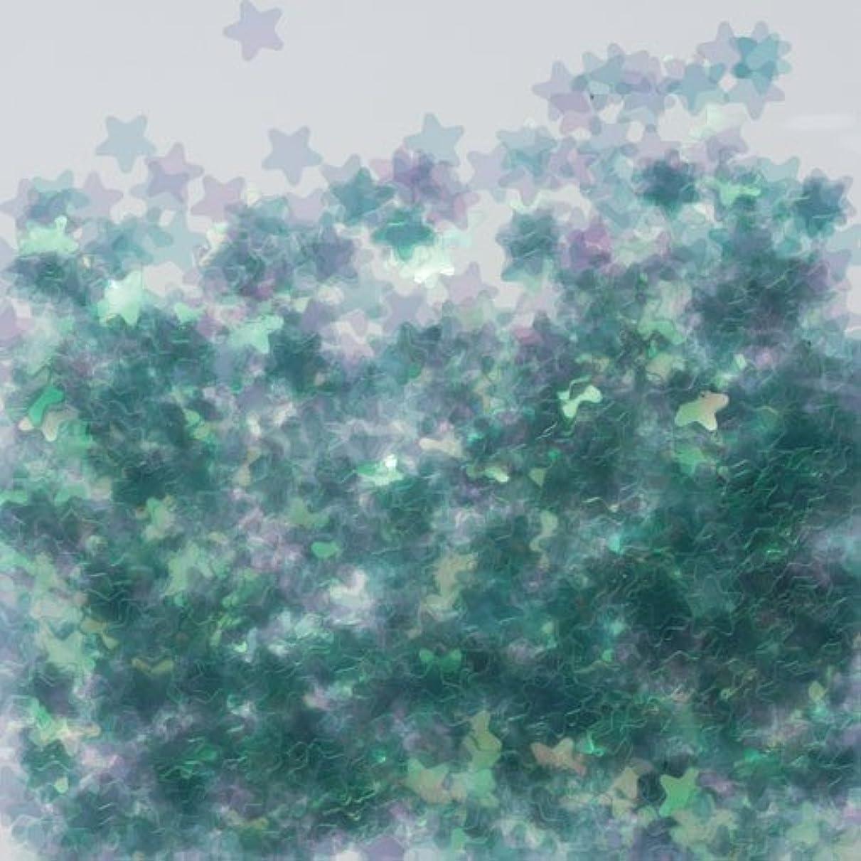 ヒロイック乞食グレートオークピカエース ネイル用パウダー 星オーロラ 耐溶剤 #770 グリーン 0.5g