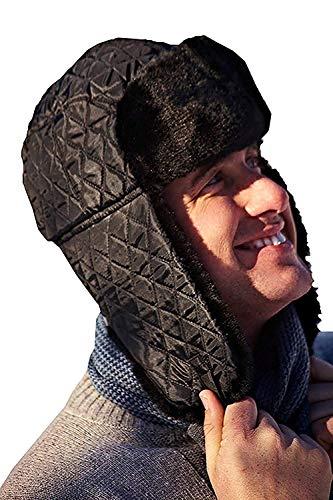 Boutique - Ensemble bonnet, écharpe et gants - Homme - - Mens - Quilted Black, Taille Unique