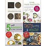 Salt fat acid heat [hardcover], medic food for life, 5 simple ingredients slow cooker, tasty and healthy 4 books collection set