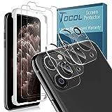 TOCOL 4 Piezas Protector de Pantalla para iPhone 11 Pro 2 Piezas Cristal Templado y 2 Piezas Protector de Lente de cámara HD Vidrio Templado Marco de posicionamiento 9H Dureza