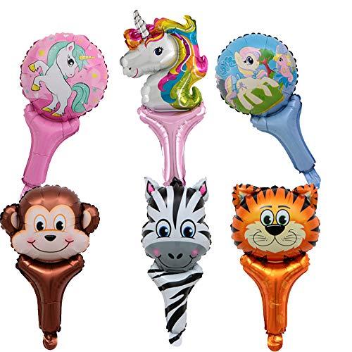 YueChen Globo de Aluminio Animal, 28PCS Globos Animales ,Unicornio Globos -Fiesta de Cumpleaños Feliz Suministros , Gran Regalo para Niños y Amigo