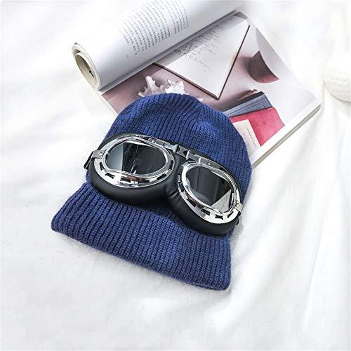 DSNICK-CP Sombreros de Mujer para otoño e Invierno, Gorros de Punto con Cara Redonda, A20,58CM