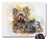 Gaming Mouse Pads,Mouse mat,Dog Portrait Pet Art Abstract Vintage Watercolor 4