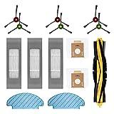 HALIEVE Juego de filtros para aspiradora Ecovacs Deebot OZMO T8 AIVI (14 unidades)