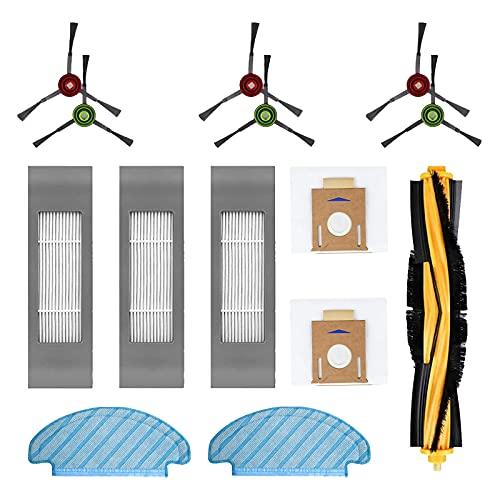 Filtro Spazzola Panno Sacchetti Pezzi di Ricambio Accessori Set per Aspirapolvere Robot Ecovacs DEEBOT OZMO T8, T8 AIVI, T8+ (14 Pezzi)