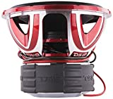 DS18 HOOLIGAN X15.2D Subwoofer in Red with Kevlar Enforced Paper Cone and Upgraded Spider - 6,000W Max, 4,000W RMS, Dual 2 Ohms - Powerful Car Audio Bass Speaker (1 Speaker)