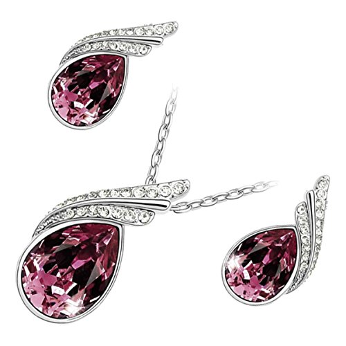 GWG Jewellery Juego de Joyas Mujer Regalo Conjunto Collar y Pendientes, Bañado...
