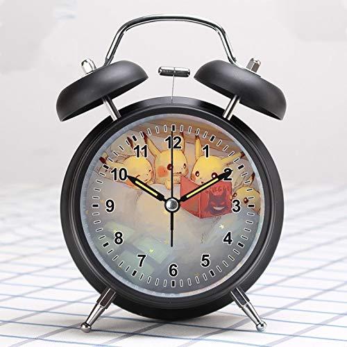 Reloj Pokemon Pikachu pequeño reloj despertador super fuerte dibujos animados lindo niños especial estudiante silencioso luz nocturna alarma