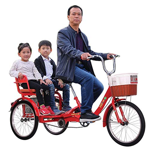Seguridad Bicicletas De 3 Ruedas Triciclo Para Adultos Plegables Para Personas Mayores, Bicicletas De Crucero De Tres Ruedas De Tres Ruedas Con Canasta Grande Y Asiento Trasero Para Hacer Compras. Ciu
