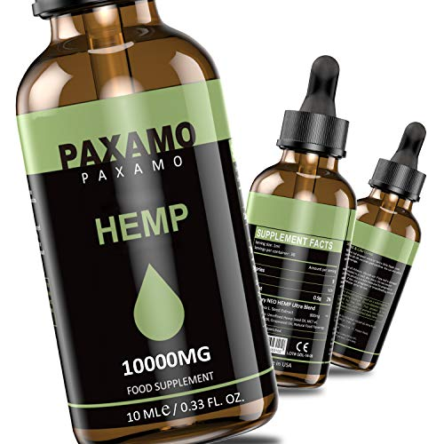 PAXAMO Natural Oil Drops, 100% Natural Dietary Supplement, Vegan Friendly (10000MG/10ML)