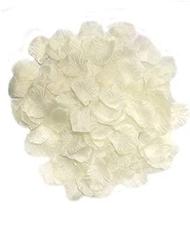 AKOAK 1000 Pieces Ivory Silk Rose Petals Artificial Flower Wedding Party Decoration