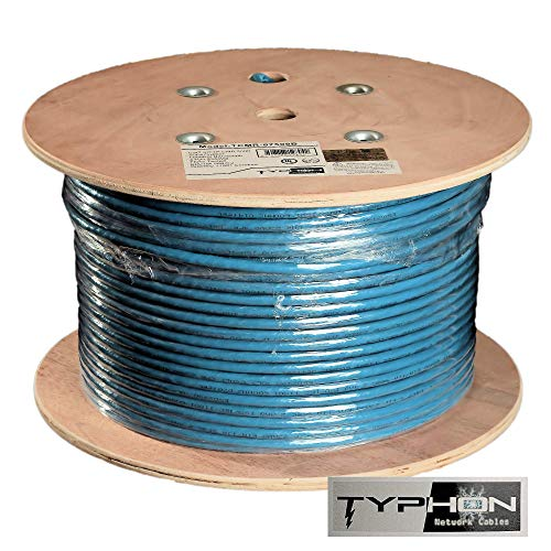 Cat7 500ft Network Ethernet Cable S/FTP In Wall Riser (CMR) Pure Solid Copper UL 600MHz Cat 7 Wire Blue