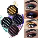 UCANBE BELLE Magnética del Maquillaje del Brillo del Reflejo Conjunto de Sombras de Ojos en Polvo Shine pigmentos metálicos Cosméticos Desnuda 4pcs / Set