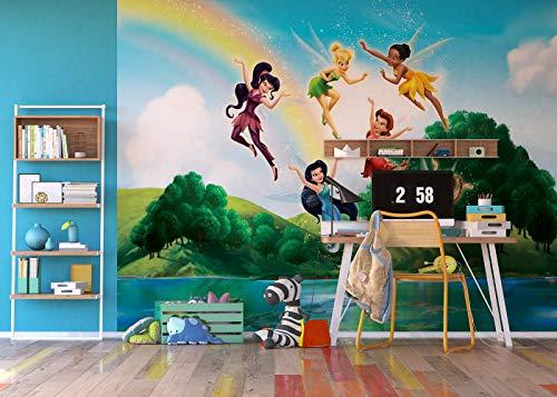 AG Design FTDXXL 0259 Disney Fairies Feen, Papier Fototapete Kinderzimmer- 360x255 cm - 4 teile, Papier, multicolor, 0,1 x 360 x 255 cm