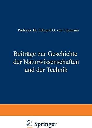 Beiträge Zur Geschichte Der Naturwissenschaften Und Der Technik