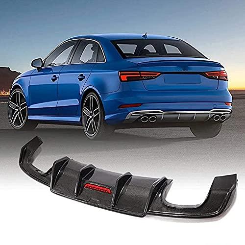 Para Audi A3 Sline S3 Sedan 2017-2019,Real Carbon Fiber Difusor De Parachoques Trasero De Coche,Kits De CarroceríA De AleróN De Coche Accesorios De ModificacióN Y ActualizacióN