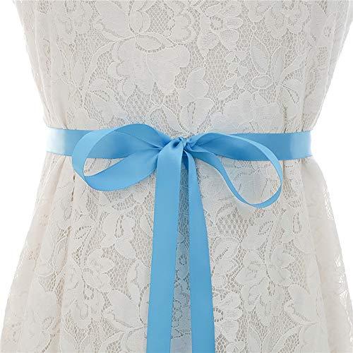 GJHT Cinturón de Boda Nupcial Vestido de Rose Rhinestone Vestido de Novia Vestido de Fiesta Banquete Vestido de Vestimenta de Boda Vestido de Novia Accesorios clásicos para Novios de Dama de Honor.